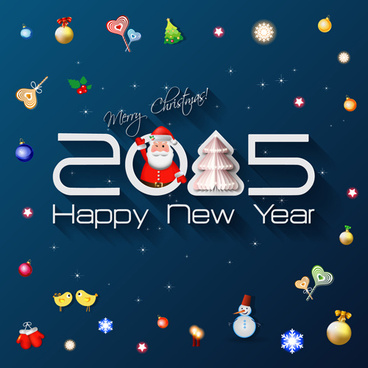 creative new year15 and christmas background