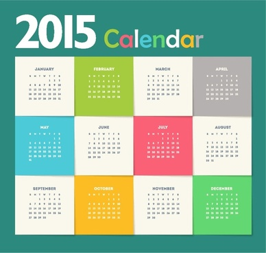creative new year calendar15 vector illustration