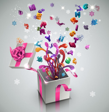 creative new year gift card vector