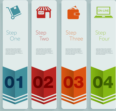 creative number business banner vector