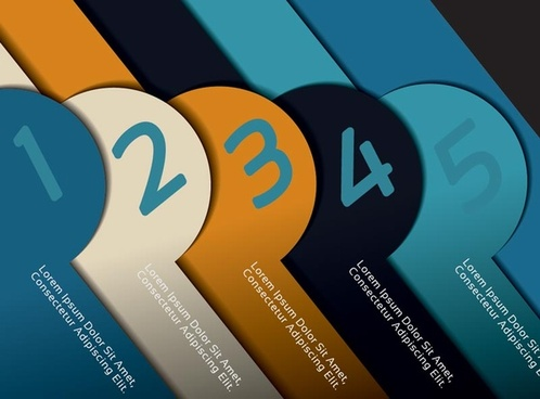 creative numbered banners infographics vector