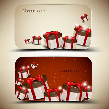 creative of gift discount cards design vector