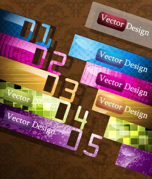 creative of original banners vector graphics