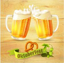 creative oktoberfest beer poster vector