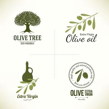 creative olive logos vector