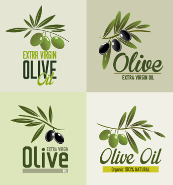 creative olive oil logos vectors
