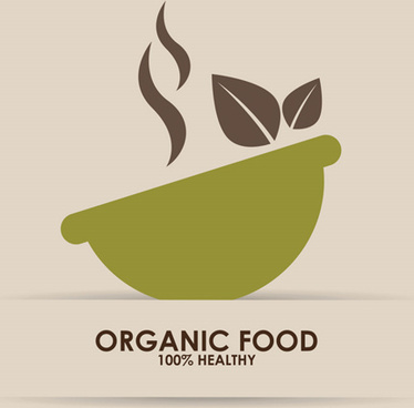 creative organic food logo vector