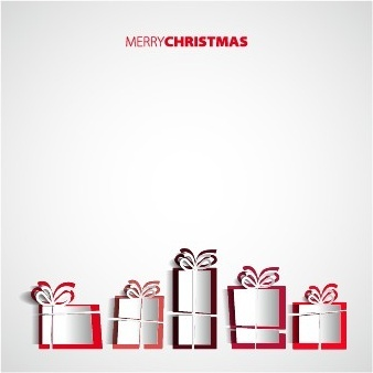 creative origami christmas elements backgrounds vector