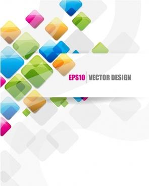 creative origami ribbon text design vector