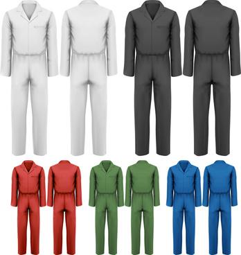 creative overalls design vector