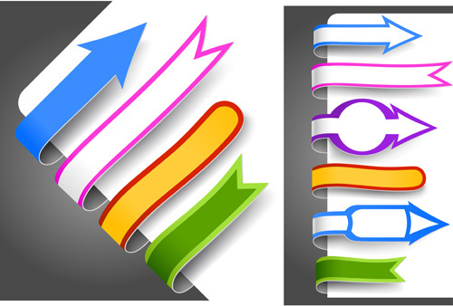 creative paper bookmarks design vector