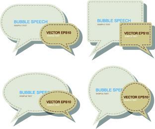 creative paper labels vector