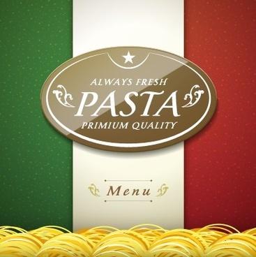 creative pasta menu cover vector graphic