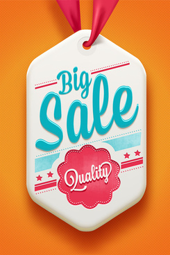 creative premium quality sale tags vector