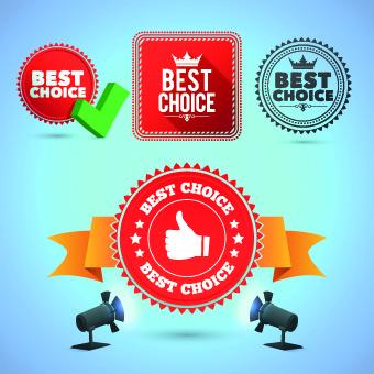 creative promo labels design vector