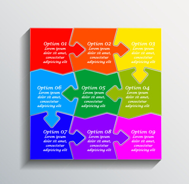 creative puzzle infographic template vector