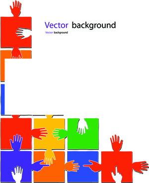 creative puzzles vector background art