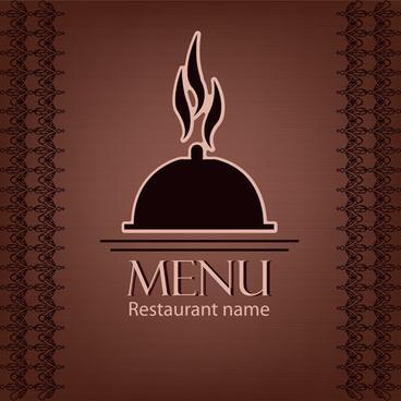 creative restaurant menu cover design vector