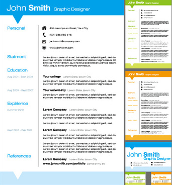 creative resume template design vector - Creative Resume Templates Free Download