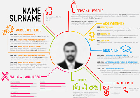 simple professional resume template free vector in adobe illustrator