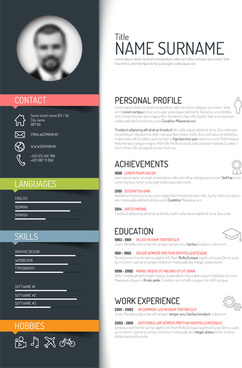 Creative Resume Template Design Vectors