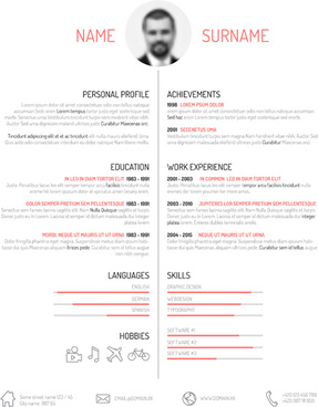 Resume Free Vector Download 26 Free Vector For Commercial Use