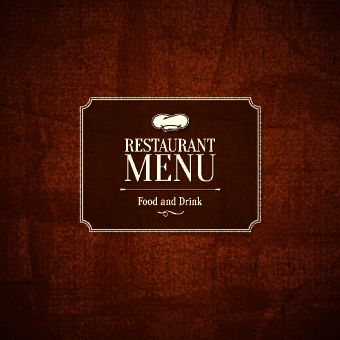 creative retro restaurant menu template