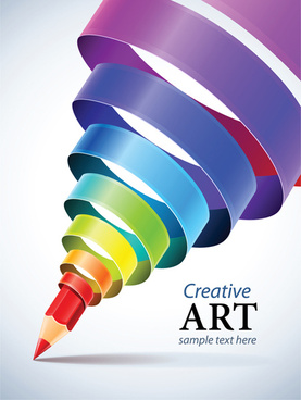 creative ribbons cone art background vector