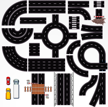 creative road design elements vector