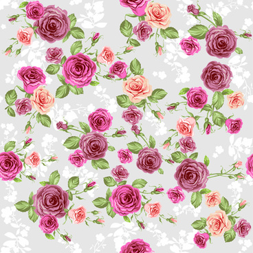 creative rose pattern design graphics vector
