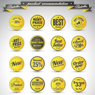 creative sale badges design graphics