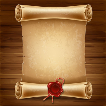creative scroll paper background vector set