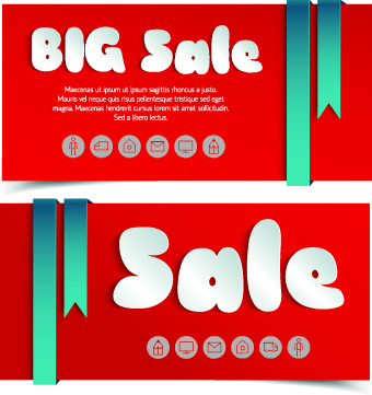 creative shopping greetings cards vector