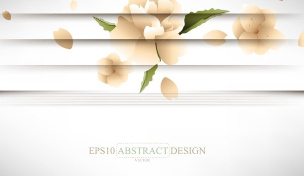 creative shutters style floral background vector