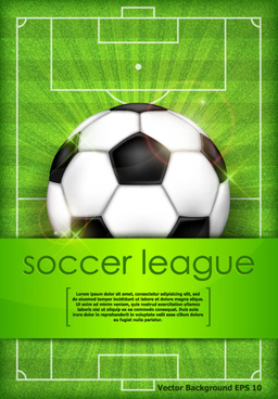 creative soccer league vector background
