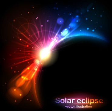 creative solar eclipse vector illustration