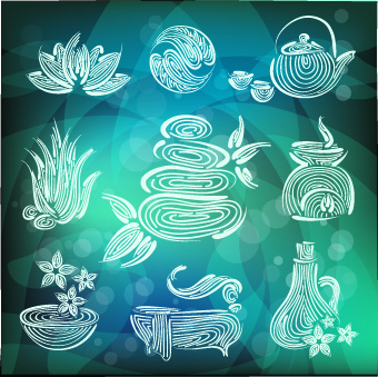 creative spa design element vector set