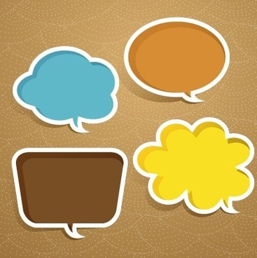 creative speech bubble for your text design vector