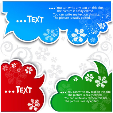 creative speech circle and cloud vector set