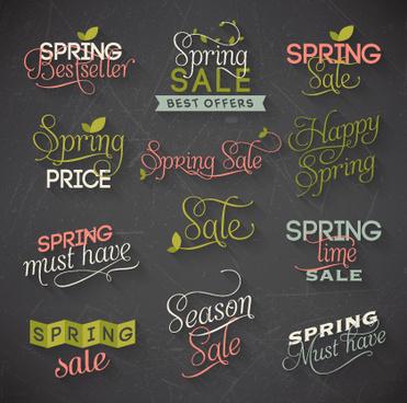 creative spring typography vector