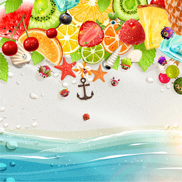 creative summer holidays vector backgrounds