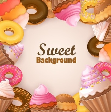 creative sweets vector background art