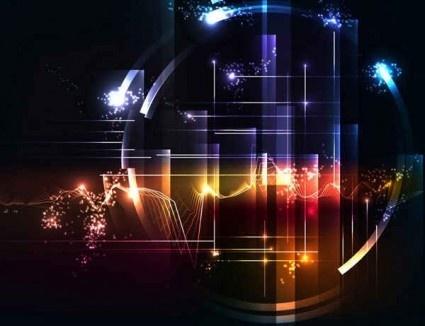 creative tech glare background vector
