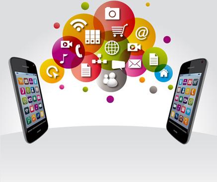 creative technology elements vector graphics