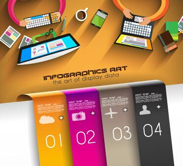 creative timework infographic set vector