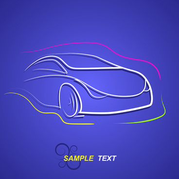 creative transport design elements vector set