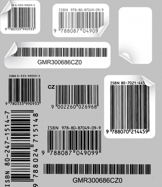 creative use of barcode labels vector