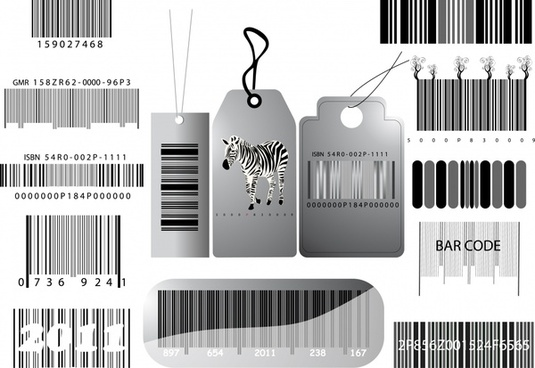 sale tag template modern barcode decor