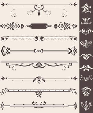 creative vintage ornaments with borders vector