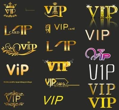 creative vip golden logos vector